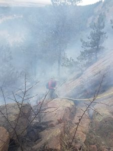Fire in Gregory Canyon